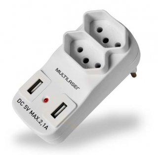 ADAPTADOR+2+SAIDAS+2P%2BT+C%2F+2+PORTAS+USB2.1A+WI331+MULTILASER