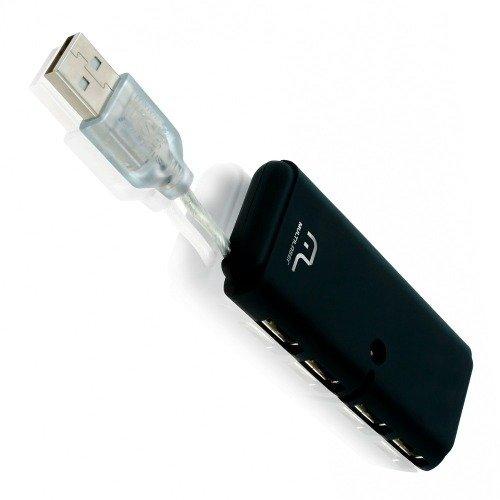 HUB 4 PORTAS USB 2.0 SLIM PRETO MULTILASER AC064