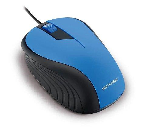 MOUSE COM FIO 2.4GHZ PRETO E AZUL USB MO226 MULTILASER
